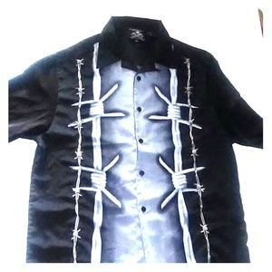 Rockhouse barbed wire graphic shirt size XXL